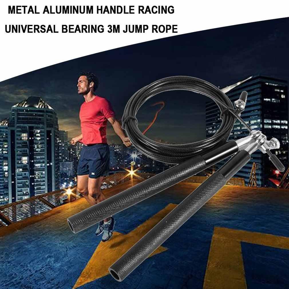 3 Meter Bantalan Lompat Tali Pusat Pelatihan Profesional Lompat Tali Double Gemetar Permainan Logam Pegangan Aluminium