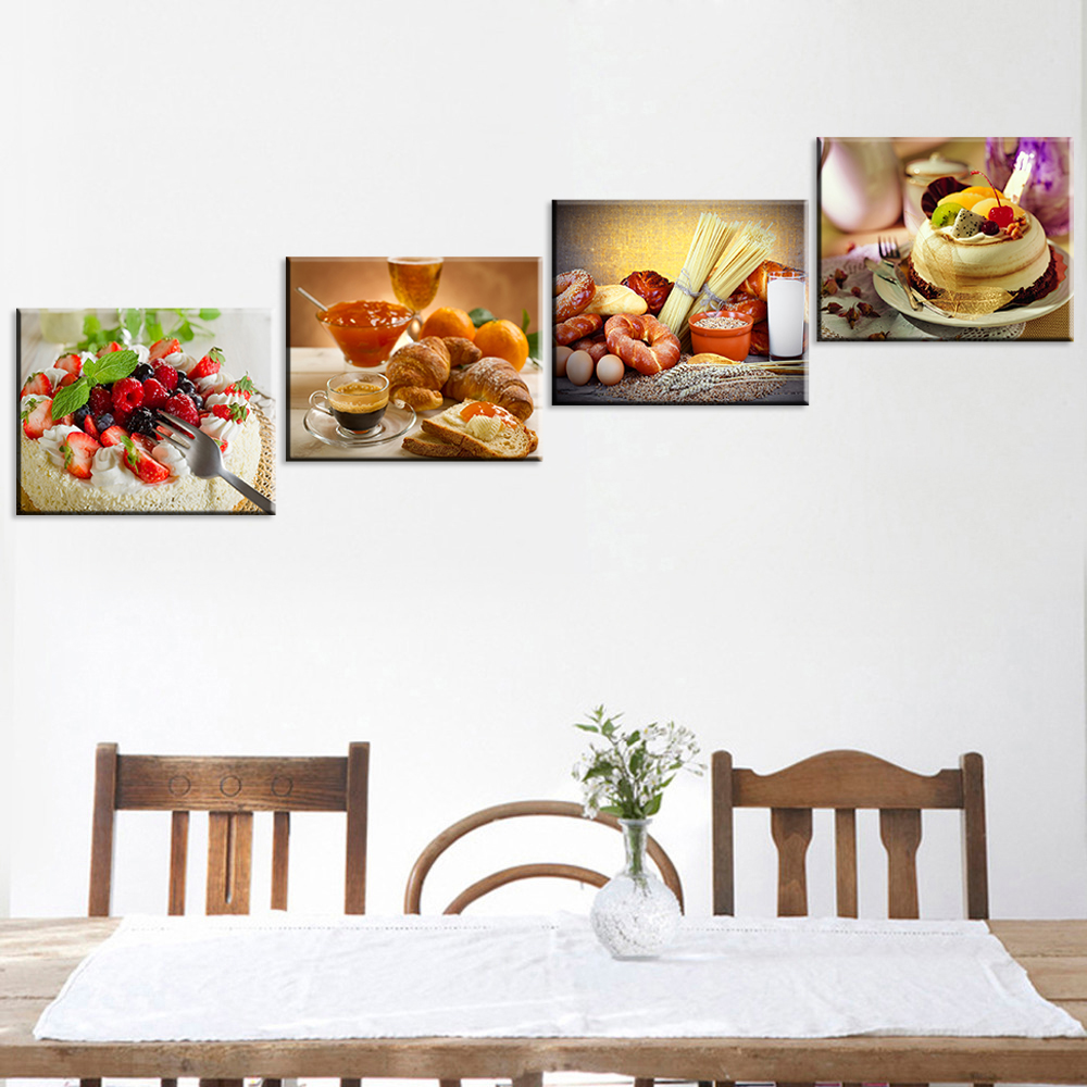 Torta fruta dulce flor lienzo pintura bodeg n arte cartel cuadros decorativos para la cocina 4 - Cuadros decorativos para cocina ...
