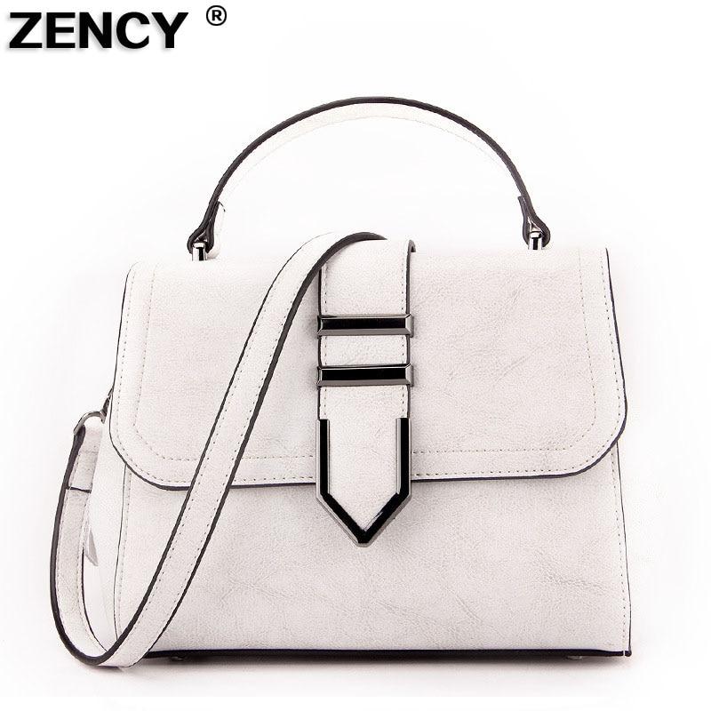 2019 Small Vintage Genuine Leather Pretty Women Handbags Oil Wax Cowhide Female Girl Elegant Crossbody Messenger
