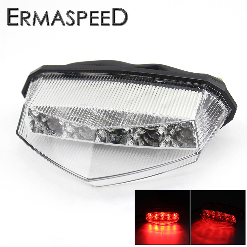 Universal Red Motorcycle Brake Lights LED Retro Cafe Racer Racing Accessories Rear Indicator Tail Light for KTM Yamaha r6 2002