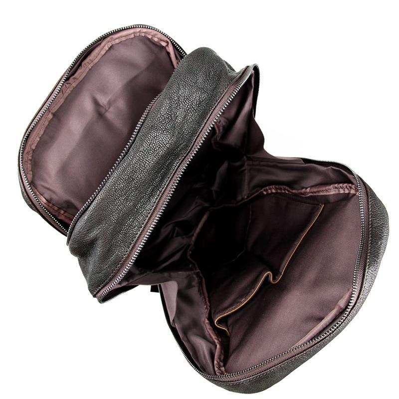 ''laptop Schokolade Schaffell Schwarz M7340 Echtem Weichen Frauen Maletravel Hohe Nesitu 14 Männer Chocolate Rucksack black Vintage Qualität Leder Taschen SIFv8x