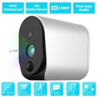 1080P WiFi IP Camera Outdoor Surveillance Camera Security Monitor IP65 Waterproof Battery Powered 2 way Audio PIR Motion Sensor