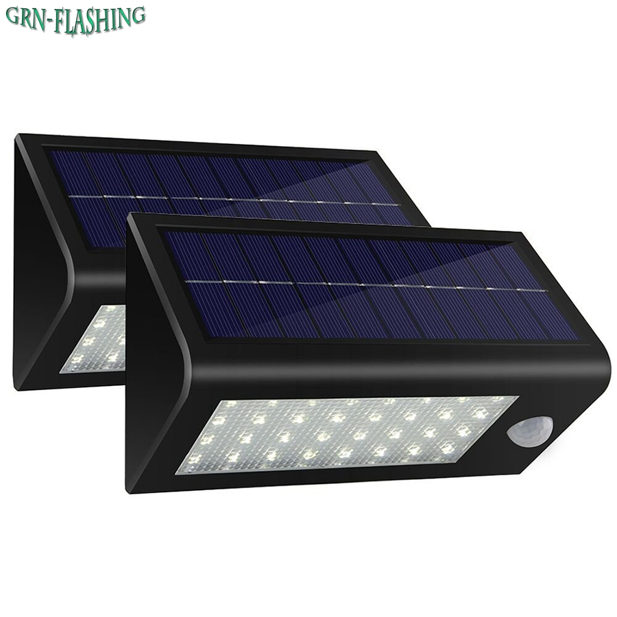 32 LED Solar Lights PIR Motion Sensor Garden led Wall Lamp Lights Waterproof Outdoor Wireless Exterior Security emergency Light outdoor led garden light security 90 led solar light pir motion sensor solar powered emergency wall lamp waterproof ip65