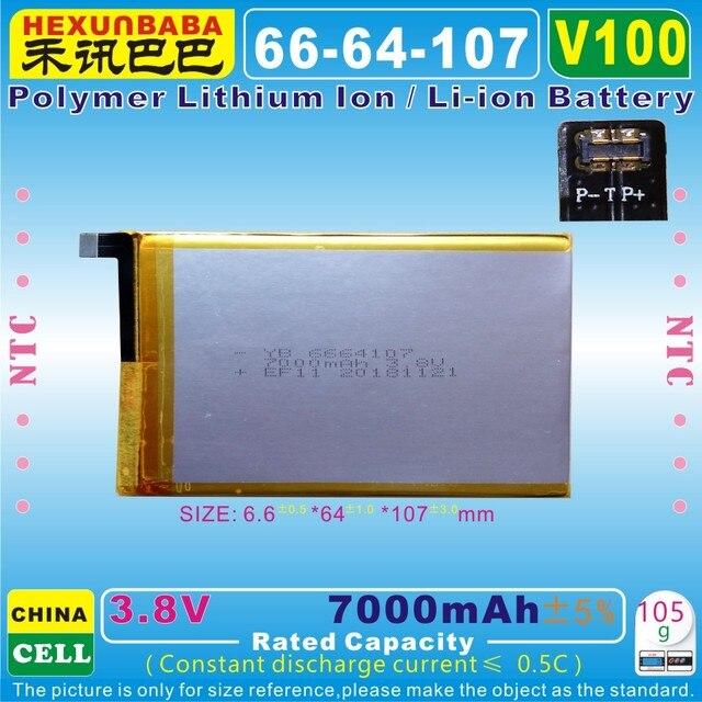 [V100] 3.8 V, 3.7 V 7000 mAh [6664107] Polymer lithium ion/Li-Ion pin cho GPD Túi Cầm Tay Chơi Game Máy Tính Xách Tay, gamePad tablet pc