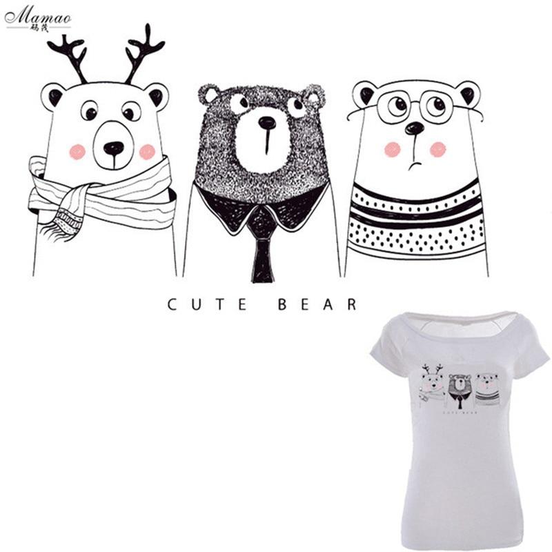 MAMAO aranyos medve foltok A-szintű mosható ruhák matricák Easy - Művészet, kézművesség és varrás