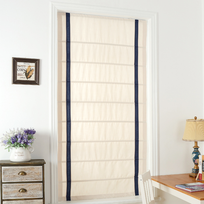 Custom Curtains Cotton Linen Roman Curtain For Kid S Bathroom Door Bay Window Litre Fall Shade In From Home Garden On Aliexpress