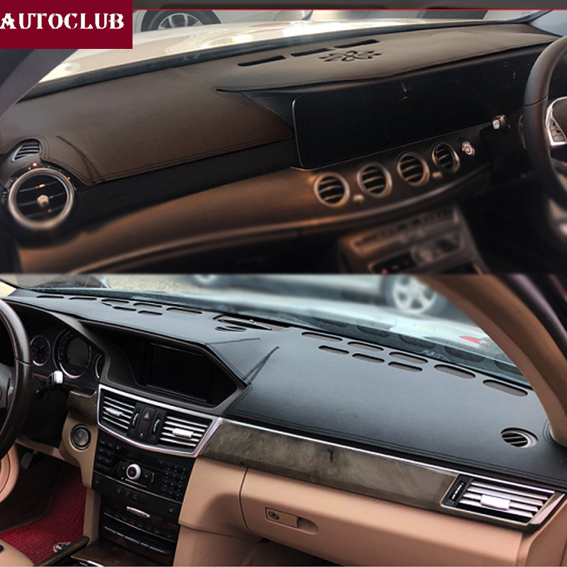 For Mercedes-Benz E-Class W212 S212 W213 E200 E300 E320 Leather Dashmat Dashboard Cover Pad Dash Mat Sunshade Carpet  2009-2019
