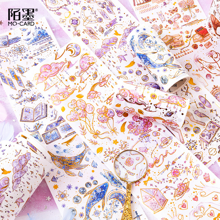 Magic Academy Series Bullet Journal Washi Tape Gilding Decorative Adhesive Tape DIY Scrapbooking Sticker Label Stationery