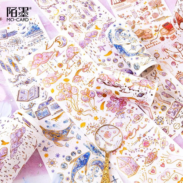 Magic Academy Series Bullet Journal Washi Tape Gilding Decorative Adhesive Tape DIY Scrapbooking Sticker Label Stationery