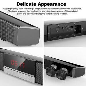 Image 4 - SR100 Plus Bluetooth Soundbar Hause TV Lautsprecher Drahtlose Subwoofer Fernbedienung Stereo Surround Sound Lautsprecher für Heimkino