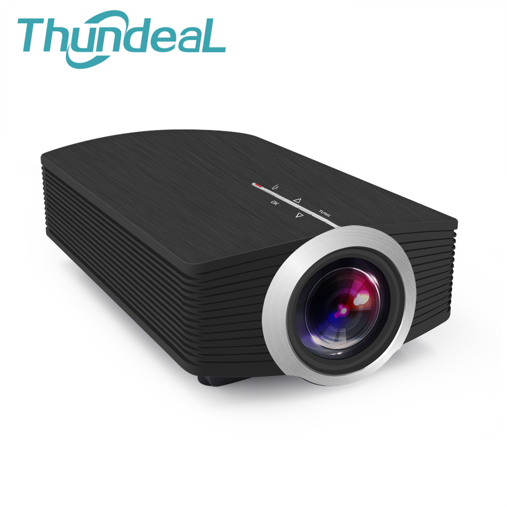 ThundeaL YG500 YG500A Mini Projector 1080P 1800 Lumen Portable LCD Projector Home USB HDMI VGA 3D LED Gm80a Multi screen Beamer estgosz 2300 lumen 2018 u45 led projector uhappy best portable hd usb hdmi tv projector lcd mini proyector 3d home theaterbeamer