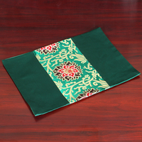 Luxury Patchwork Rectangle Dining Table Pads Plate Placemat Pallet Coasters Chinese style Mulberry Silk Brocade Placemats
