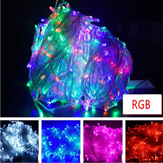 ФОТО Free Shipping 100m 600led string lights outdoor decoration light Christmas festival light new year garland enfeites de natal