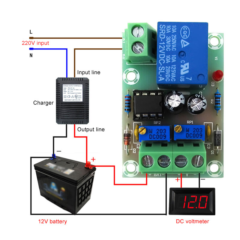 Battery Charging Control Board Smart Power Supply Switch Module 12V/24V 6-60V WIF66