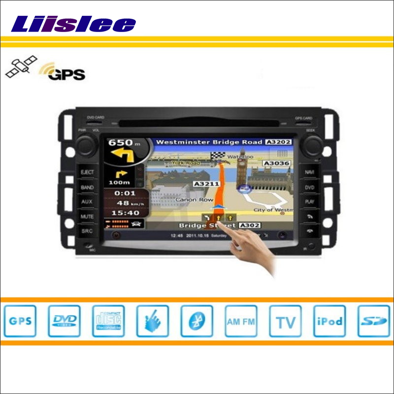 Liislee Car GPS Map Nav Navi Navigation For Chevrolet Traverse 2008~2012 Radio Stereo TV DVD iPod BT HD Screen Multimedia System