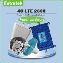 Усиления 70dB 4 г LTE 2600 мГц повторитель сигнала FDD группа 7 (LTE 2600) Мобильный усилитель сигнала полный костюм для мальчиков, футболка + штаны с ПДСХР/потолок антенны 15 м кабель