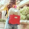 2013 Women S Handbag Bag Summer Denim Color Block Backpack Canvas Backpack Unisex School Bag