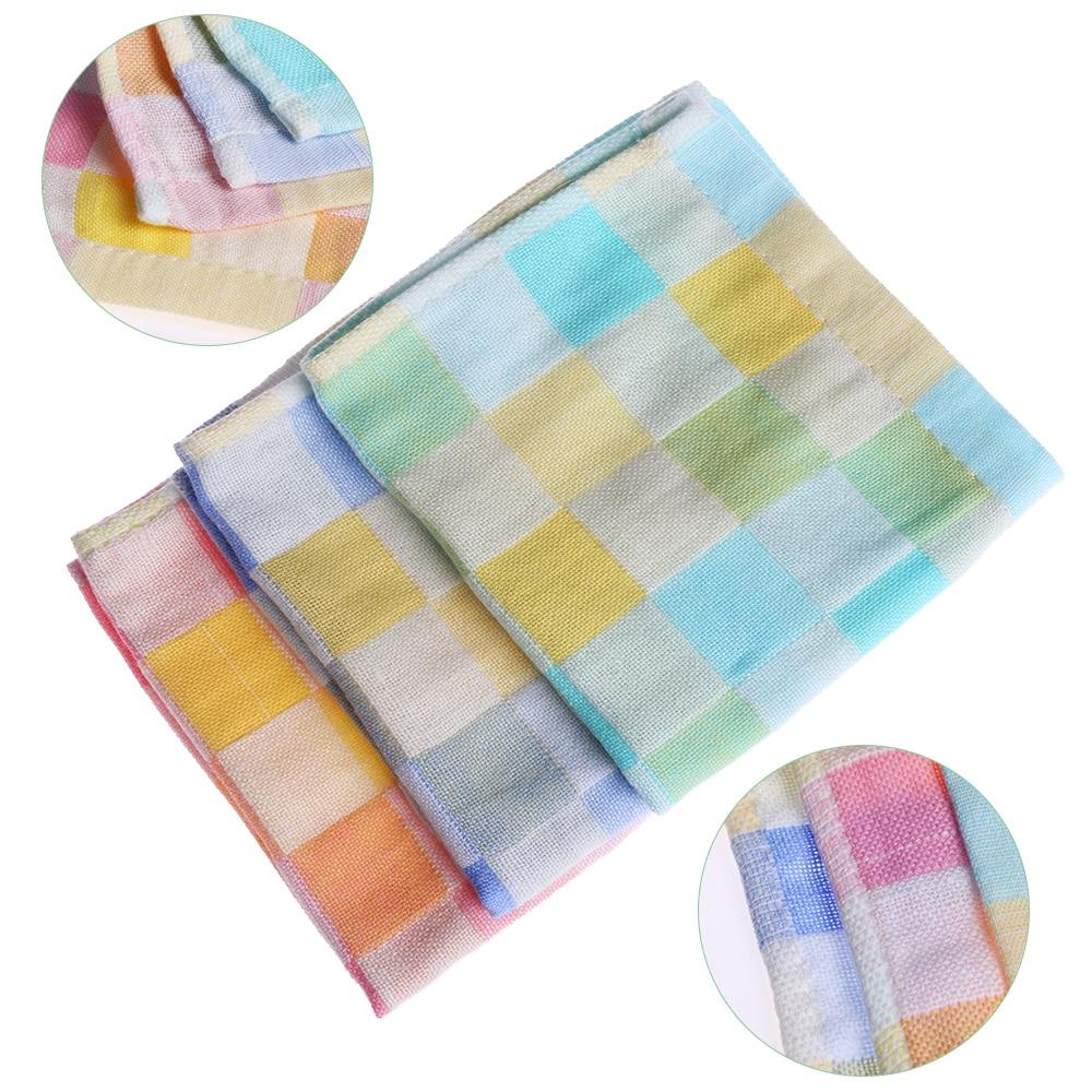 3Pcs Cotton Baby Children Wipe Cloth Infant Handkerchief Muslin Towel Baby Bibs