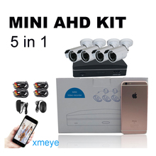 Sale Super Mini 4ch AHD Digital Video Recorder DVR with 4pcs of  720P AHD Cameras & 15m Cables kit with free iCloud & APP Monitor
