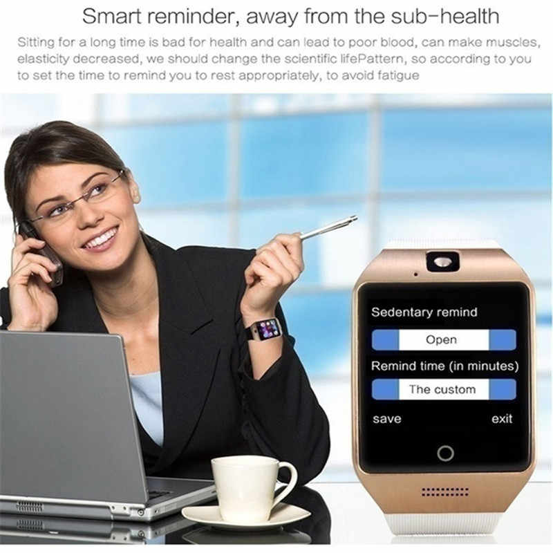 Q18 Smart Watch Android Bluetooth Connection Clock Music Watch Support SIM  Card Phone Smartwatch For Smartphones PK dz09 Y1