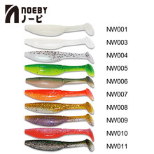 NOEBY 6pcs/lot Fishing Soft Lures S8019 Baits 10cm/9g T-Tail Worm Artificial 10 Colors Silicone