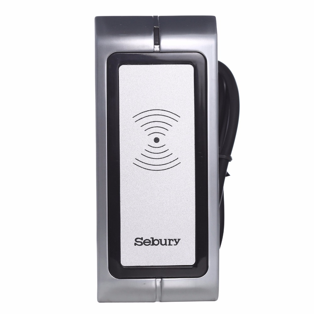 Sebury metal case outdoor Waterproof door lock RFID EM Proximity Reader office room Security Access control WG 26 output