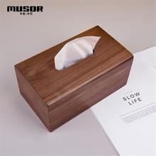 フェイスタオルトレイ木製紙箱ボックスナプキンボックスホテルレストランの寝室木製のティッシュボックス
