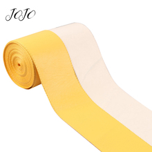 JOJO BOWS 75mm 2y Leather Ribbon Solid Tape For Clothing DIY Hair Bows Webbing Wedding Party Decoration Apparel Sewing Materials
