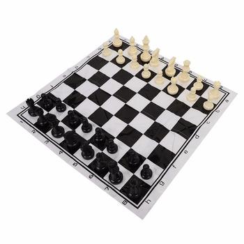 Przenośne plastikowe międzynarodowe szachy zestaw średniowiecznych rozrywki C zestaw do gry w czarny amp biały-Black amp White szachownica do imprez okolicznościowych tanie i dobre opinie Z tworzywa sztucznego 6 lat Plastic Szachy warcaby Chess Game Set VBESTLIFE