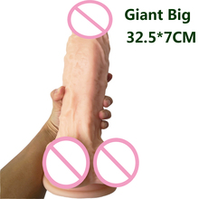 AMABOOM Super Huge Dildo 32.5*7cm Heavy Suction Cup Big Dildos Realistic Giant Dildo Anal Penis Butt Sex Toys For Woman