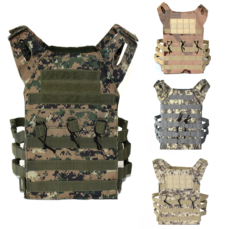 New Camoufalge Tactical Vest Military Airsoft Paintball Sport Molle Plate Carrier Vest Men Hunting Shooting Body Armor 9 Colors