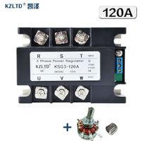KZLTD Three Phase Fully Isolated AC Phase Shift Voltage Regulator Module 120A 4 20MA 0 5V to 380V AC SSR Relay Three Phase Rele