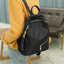 2019 New Nylon Backpack bag Korean Version Of The Lightweight Oxford Cloth Backpack College Wind bag цена 2017
