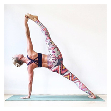 Printed ladies yoga pants unique leggings fitness exercise sports sexy push high stretch clothes slim trousers