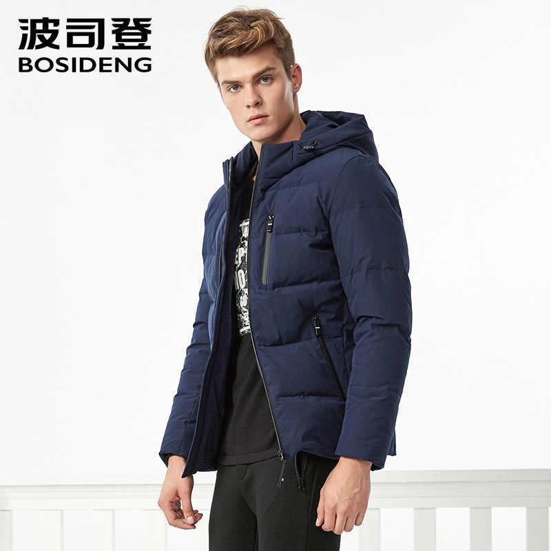 891424e82863b ... BOSIDENG Новый пуховик для мужчин пуховое пальто с капюшоном зимние  толстые короткие регулярные верхняя одежда карман ...