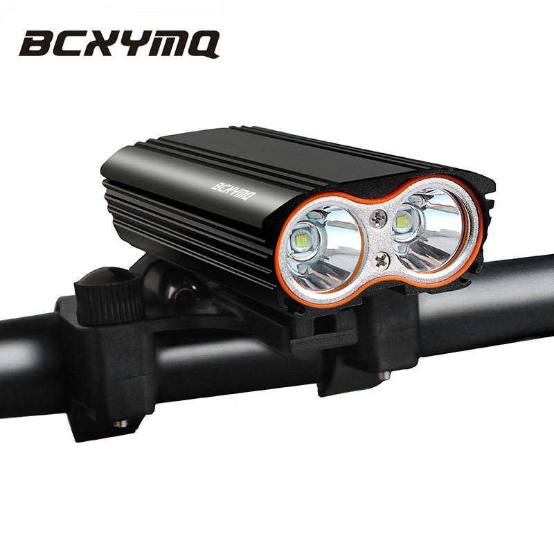 BCXYMQ Built in Battery Usb Rechargeable Bicycle Light Front Bike Light Flashlight Dual LED Headlight Accessories