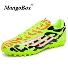 Hombres césped zapatos de fútbol cómodo niñas fútbol Pu cuero niños niño  Botas luz niños Juego 38928b781edde