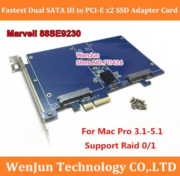 Universal Marvell 88SE9230 High Speed Dual SATA III to PCI Express X2 SSD Adapter card RAID