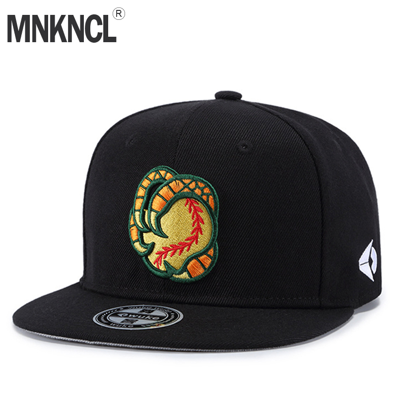MNKNCL 2018 New Bear Claws Embroidery Cool Flat Bill Baseball Cap Mens Gorras Snapbacks 3D Hat Ourdoor Hip Hop Snapback Caps new unisex top quality california bear baseball cap snapback casual gay cap fashion bear paw hip hop hat circumference 57 62 cm