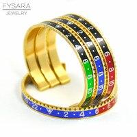 Hot Sale Italian Style New Fashion Jewelry 316L Stainless Steel Cuff Bracelet Speedometer Official Bracelet Men