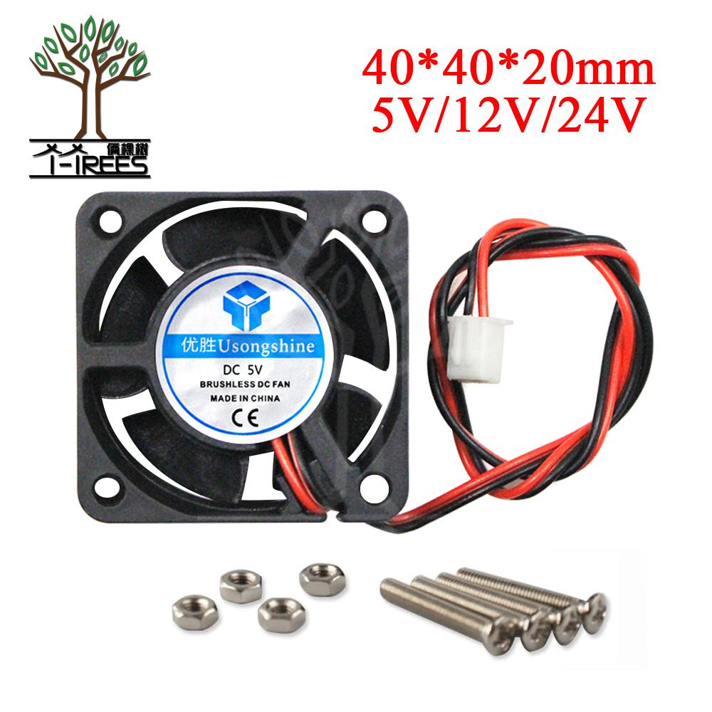3D Printer part 4020 DC cooling fan 5V/12V/24V Brushless bearing mini cooler 40mm fan radiator 40x40x20mm high quality 40*40*20 original nmb 2415fb d4w b86 dual ball bearing fan 12v 1 52a high power cooling cooler
