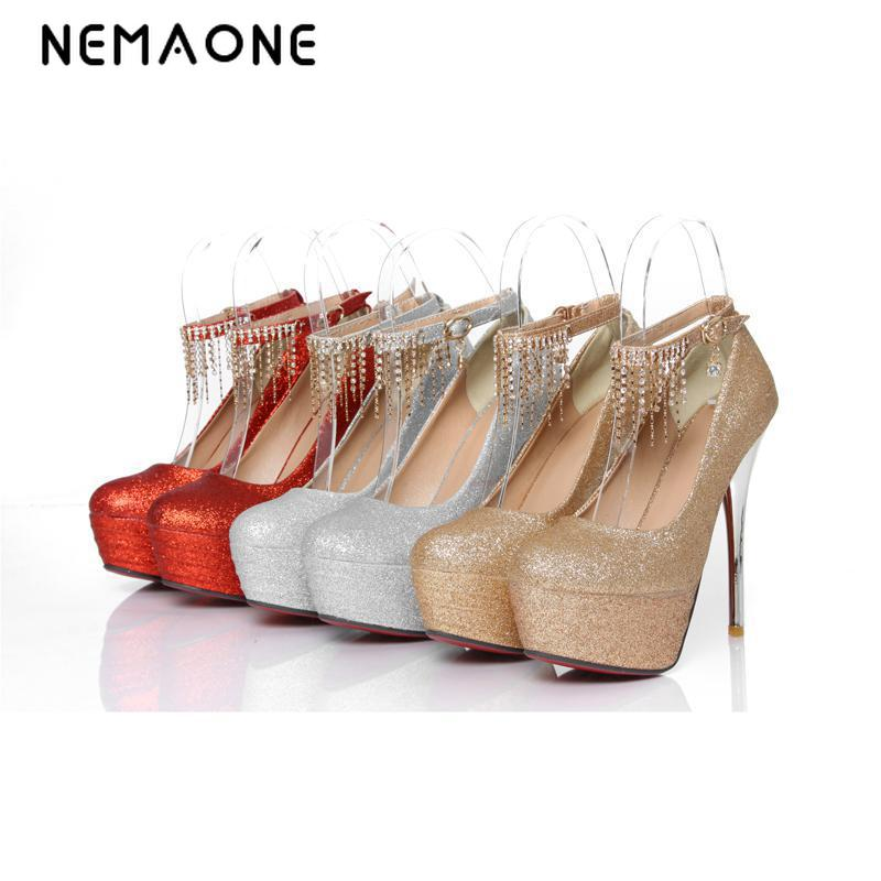 Plus Big size 34-43 Women Pumps High Heels Red Shoes 14cm Ultra High Heels Patent PU Uppers Platform Wedding Shoes free shipping quality brand new sexy black red women glossy platform pumps purple high heels lady bridal shoes em10 plus big size 11 31 43 45