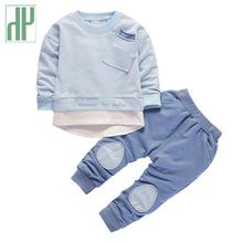Children clothing set Long Sleeve Shirts Pants two piece baby clothes boy kids tracksuit little girls outfits 1 2 3 4 5 Year недорого