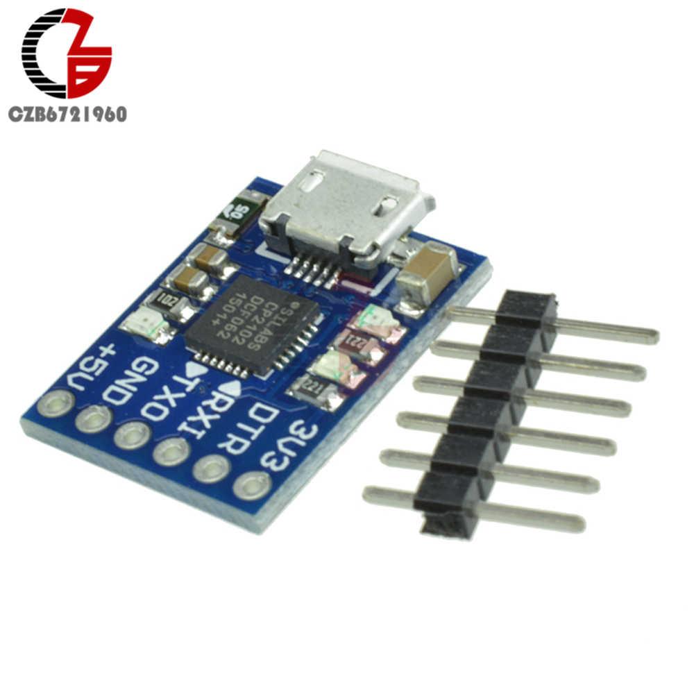 CP2102 Micro USB untuk UART TTL Modul 6 Pin Serial Converter STC Mengganti FT232 W/Resettable Fuse UNTUK ARDUINO pro Mini ATMEGA328P