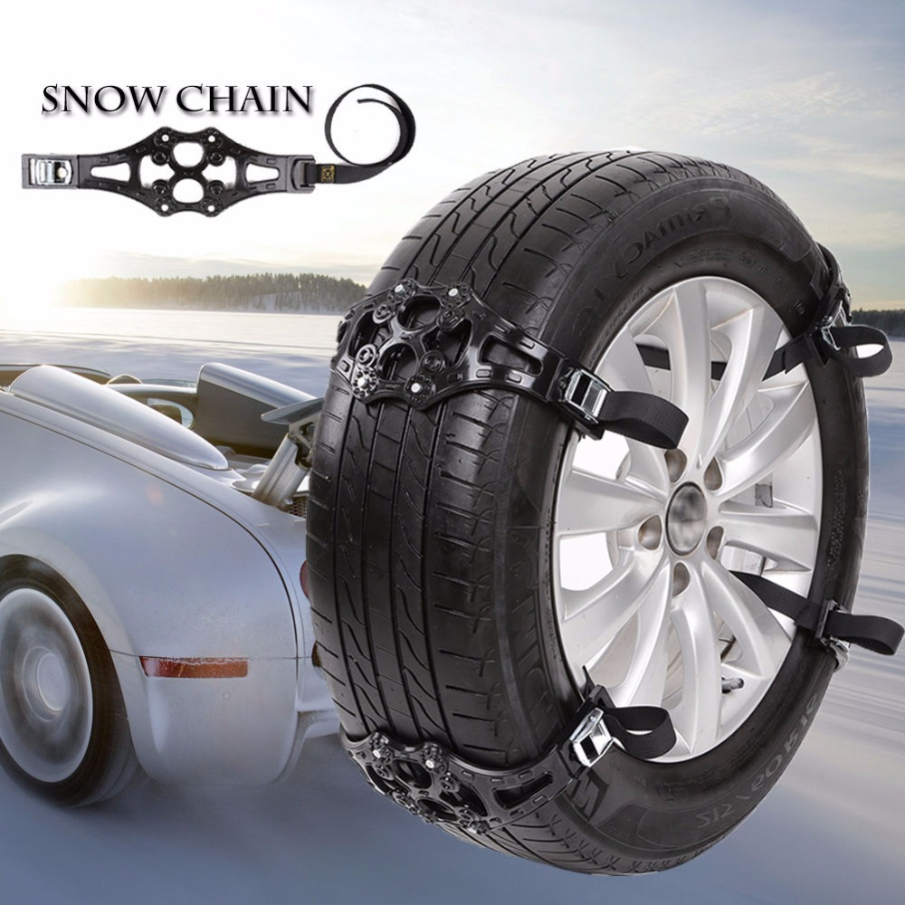 1x easy install simple winter truck car snow chain tire anti skid belt black aug31 in tire. Black Bedroom Furniture Sets. Home Design Ideas