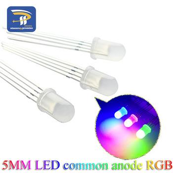 100 sztuk Multicolor 4pin 5mm diody Led RGB Tricolor okrągły wspólna anoda LED F5 dioda elektroluminescencyjna czerwony zielony niebieski tanie i dobre opinie sincere promise Nowy 5MM RGB LED Przez otwór
