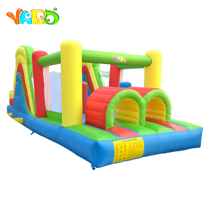 YARD Large Trampoline Inflatable Bouncer Obstacle Slides Foldable Inflatable Jumping Castle Kids Ship Door To Doorr Christmas