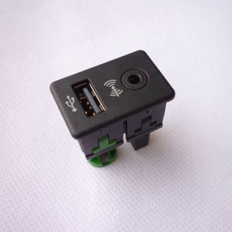 Car AUX + USB Switch Adapter Button Knob For Volkswagen