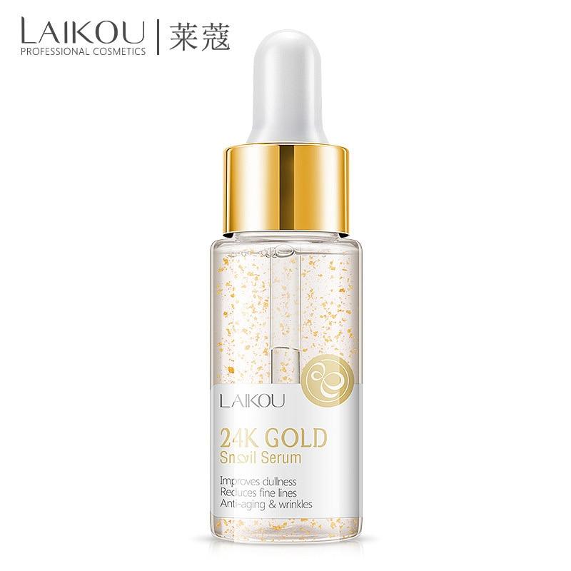 Новый крем LAIKOU предоставляет качественный 24 K GOLD уход за кожей лица крем отбеливающий увлажняющий крем Улитка Сыворотки с экстрактом улитки...