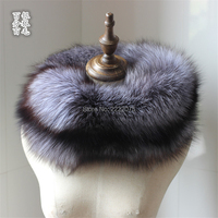 100% Genuine natural silver fox scarves unsex luxury real fox fur scarf for women wraps collar whole shawl